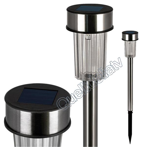 Faretto led con picchetto luce ricarica energia solare per esterno giardino ebay - Lampade ad energia solare per giardino ...
