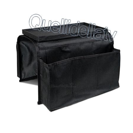 Organizer porta oggetti bracciolo per divano poltrona copri braccio salvaspazio ebay - Porta telecomandi da divano ...