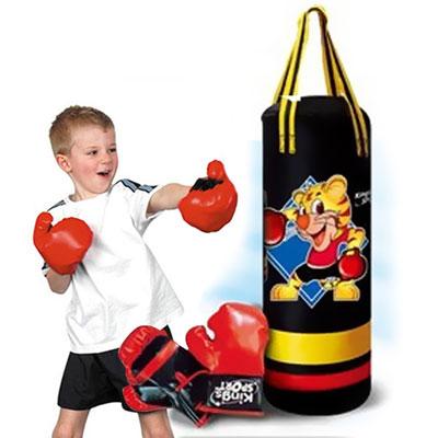 Sacco boxe con guantoni con effetti sonori gioco per - Allenamento pugilato a casa ...