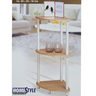 Scaffale angolare home style 3 ripiani mobile angolo cucina bagno mensole - Scaffale per cucina ...