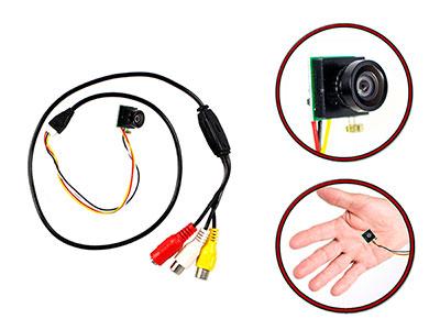Micro camera obiettivo piatto ahd 1 3 mp 720p a colori for Sito camera