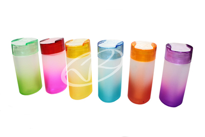 Barattoli portaspezie in vetro colorati 6pz cucina contenitori pepe peperoncino vetrineinrete - Barattoli cucina colorati ...