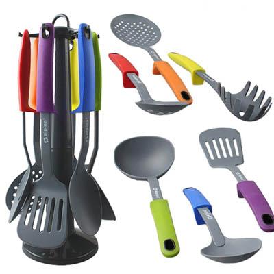Porta utensili da cucina alpina supporto stand con 6 for Set mestoli cucina