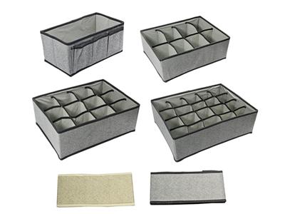 Scatola in tessuto portaoggetti e biancheria intima box for Scatole per armadi in tessuto
