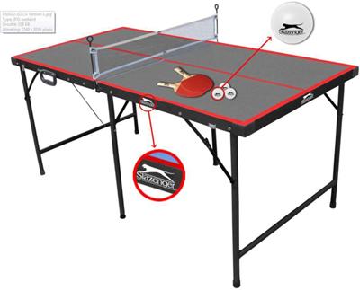Tavolo da ping pong slazenger tennis pieghevole per interno con racchette palline e rete - Costruire tavolo ping pong pieghevole ...
