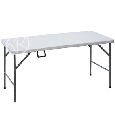 Tavolo pieghevole per giardino campeggio spiaggia 152x76x74 cm richiudibile - Tavolo pieghevole con maniglia ...