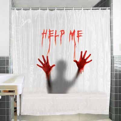 Tenda per doccia help me impermeabile con anelli vasca da bagno 180x180 cm - Tenda per vasca da bagno ...