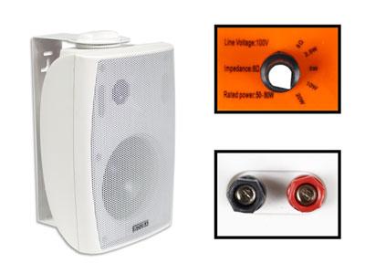 Cassa acustica 20 watt per filodiffusione da parete altoparlante con staffa a muro - Filodiffusione casa ...