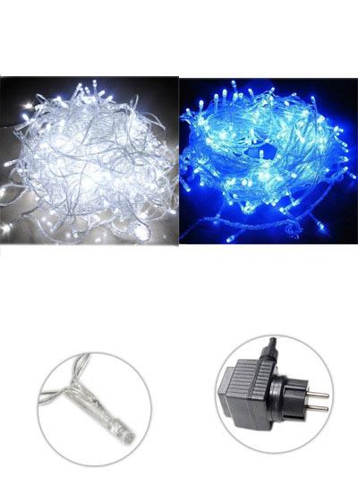 Luci natalizie led esterno filo trasparente catena serie for Luci a led esterno