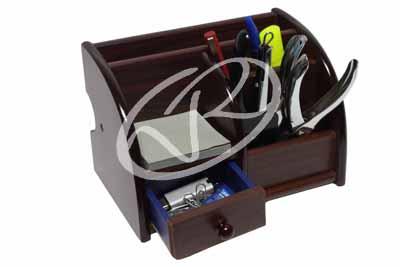 Portapenne desk organizer da scrivania in legno casa - Portapenne da scrivania ...
