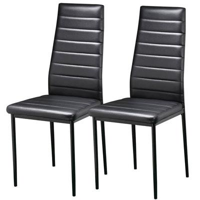 2 sedie per sala da pranzo cucina moderne rivestimento in for Sedie nere moderne