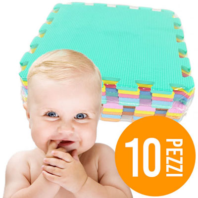 Tappeto puzzle da pavimento 10 pezzi gioco per bambini - Tappeto per neonati ...