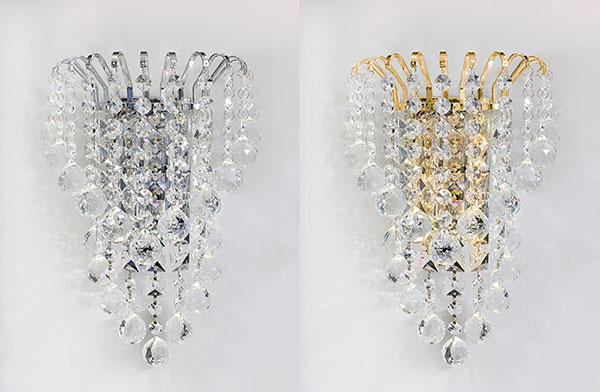 Applique da parete moderno cascata di cristalli acrilico