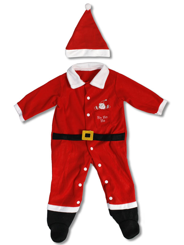 Descrizione Di Babbo Natale Per Bambini.Vestito Natalizio Per Bambini Con Cappellino Tutina Di Babbo Natale Per Neonato Ebay