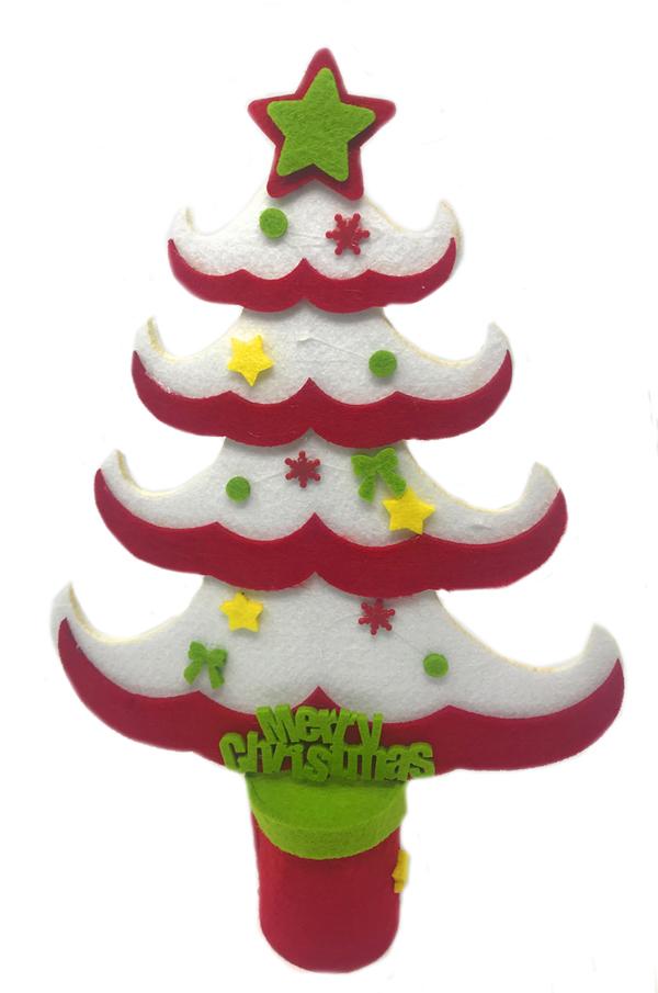 Alberello Natale.Alberello Di Natale In Feltro Albero Puntale A Stella Decorazioni Natalizie Ebay