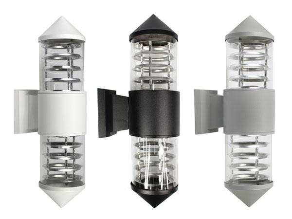 Applique a parete esterno doppia emissione luce lampada da