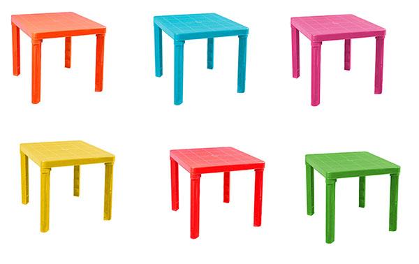 Tavoli In Plastica Colorata.Dettagli Su Tavolino In Plastica Colorato Per Bambini Tavolo Da Gioco Per Cameretta Giardino