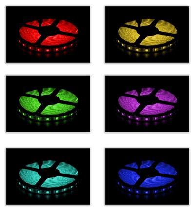 Striscia led rgb smd 5050 multicolore strip 5m 300 led for Striscia led rgb