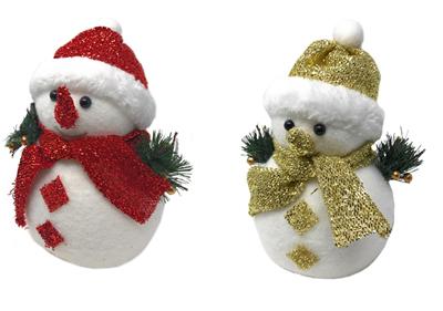 Decorazioni Natalizie Con Il Polistirolo.Pupazzo Di Neve Cappello E Sciarpa Glitter 23 Cm Decorazioni Natalizie Idea Regalo Natale