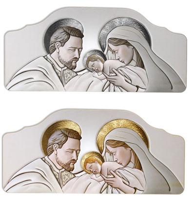 Quadro per capezzale da parete con sacra famiglia pannello for Famiglia parete