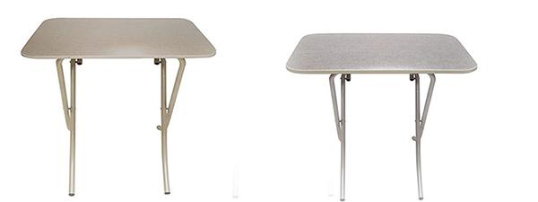 Tavolo richiudibile con piano effetto tessuto in legno ...